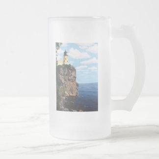 Split Rock Lighthouse Frosted Glass Mug