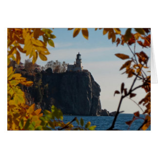 Split Rock Lighthouse in Fall Card
