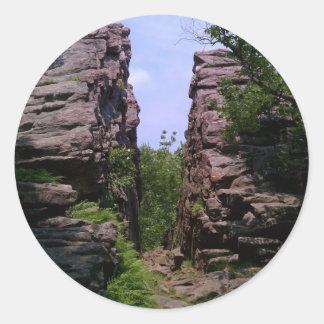 Split Rock Round Sticker