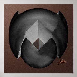 Split Sphere Poster