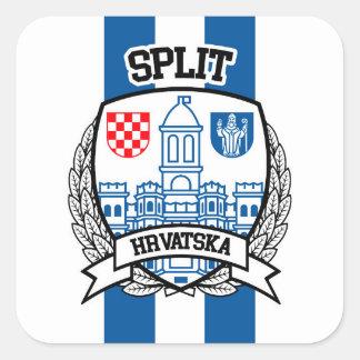 Split Square Sticker