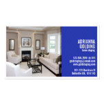 Split Staging with Photo - Blue Pack Of Standard Business Cards