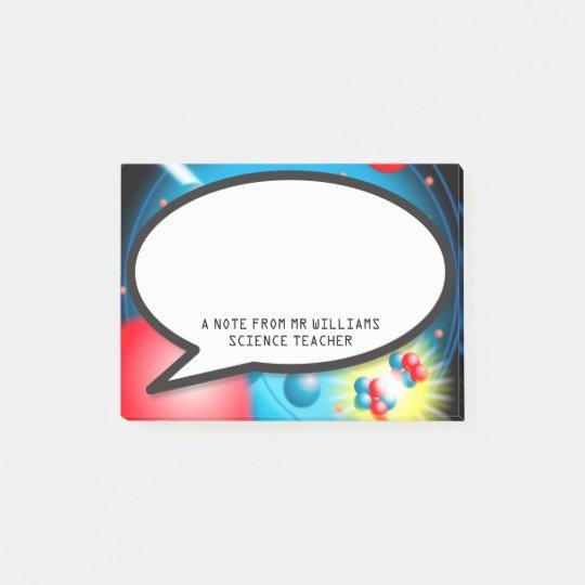 Splitting the Atom Speech Bubble Science Teacher Post-it Notes