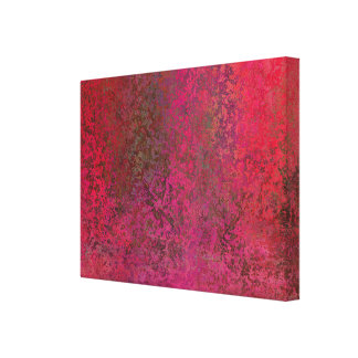 Splotchy and Unique Red Canvas Print