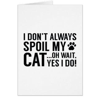 Spoil My Cat Card