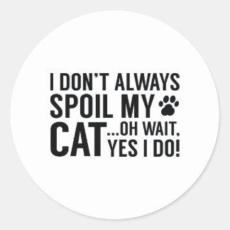 Spoil My Cat Classic Round Sticker