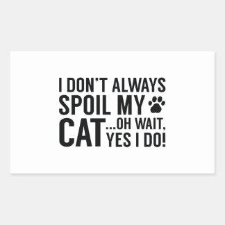 Spoil My Cat Rectangular Sticker