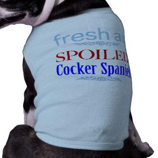 spoiled Cocker Spaniel Sleeveless Dog Shirt