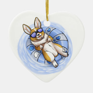 Spoiled Corgi Ceramic Ornament