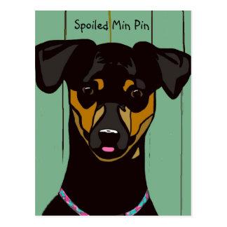 Spoiled Min Pin Postcard