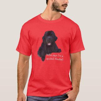 Spoiled Newfoundland Dog T-Shirt