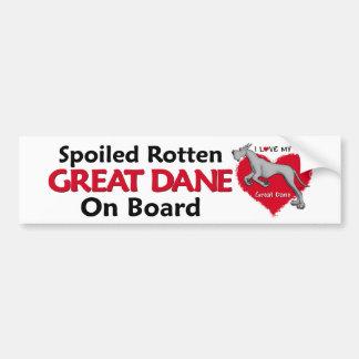 Spoiled Rotten Black Dane Bumper Stickers