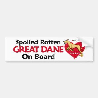 Spoiled Rotten Fawn Dane Bumper Sticker