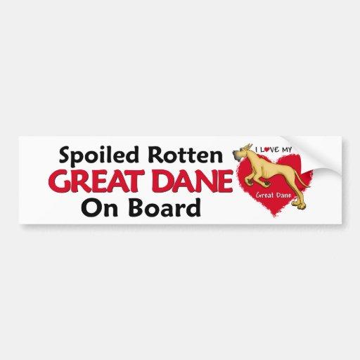 Spoiled Rotten Fawn Dane Bumper Stickers