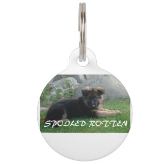 spoiled rotten german shepherd pet tag