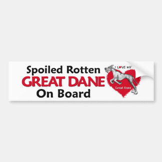 Spoiled Rotten Merle Dane Bumper Stickers