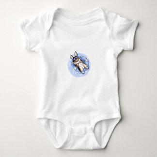 Spoiled Tri Corgi Baby Bodysuit