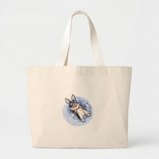 Spoiled Tri Corgi Large Tote Bag