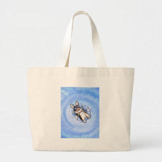Spoiled Tri Corgi Variant Large Tote Bag
