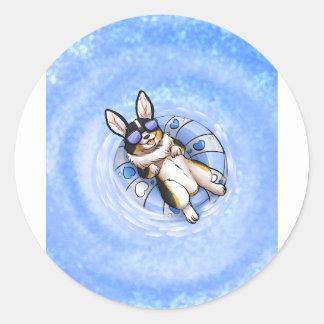 Spoiled Tri Corgi Variant Round Sticker