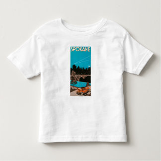 Spokane Advertising Poster #1Spokane, WA Toddler T-Shirt