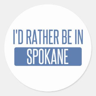 Spokane Classic Round Sticker