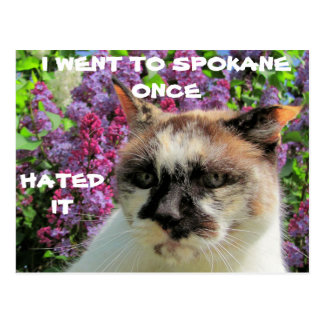 Spokane? Hated It Postcard