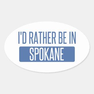 Spokane Oval Sticker