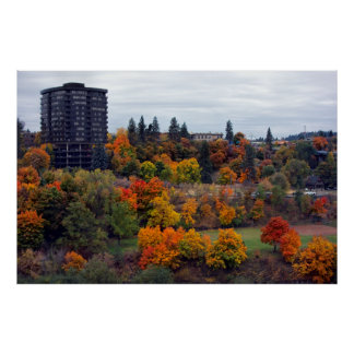SPOKANE PEACEFUL VALLEY AUTUMN POSTER