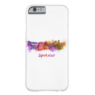 Spokane skyline in watercolor barely there iPhone 6 case