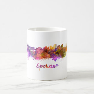 Spokane skyline in watercolor coffee mug