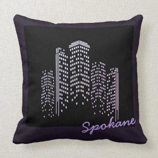 Spokane Skyline Polyester Pillow