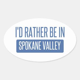 Spokane Valley Oval Sticker
