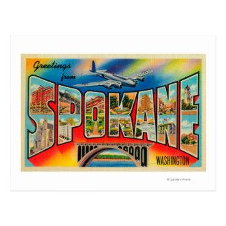 Spokane, Washington - Large Letter Scenes 3 Postcard