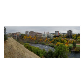 SPOKANE WASHINGTON SKYLINE POSTER