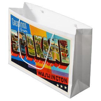 Spokane Washington WA Old Vintage Travel Souvenir Large Gift Bag