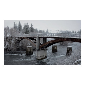 SPOKANE's PEOPLE's PARK BRIDGE in WINTER Poster