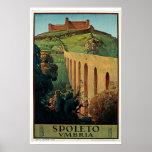 Spoleto Umbria Vintage Travel Poster