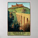 Spoleto Vmbria Vintage Travel Poster
