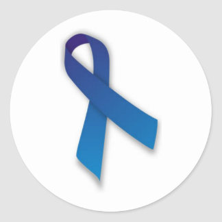 Spondylitis Awareness Ribbon Classic Round Sticker
