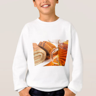 Sponge cake with chocolate filling sweatshirt