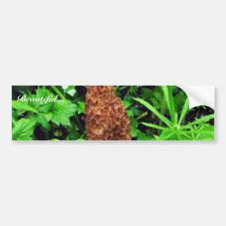 Sponge Mushroom with green plants Bumper Sticker