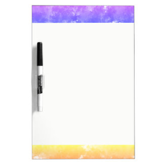 Sponge Paint Design Dry Erase Board