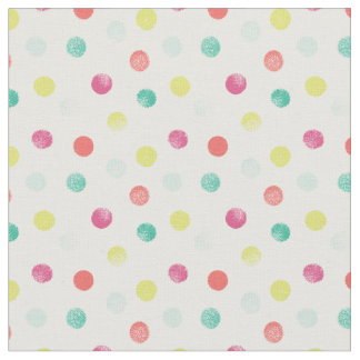 Sponged Dots Patterned Fabric (Brights)