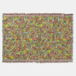 Spontaneous Colorful Patches Irregular Pattern Throw Blanket