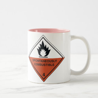 spontaneously combustible-1 Two-Tone coffee mug
