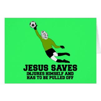 Spoof atheist Jesus saves Card