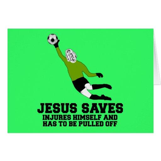 Spoof atheist Jesus saves Cards