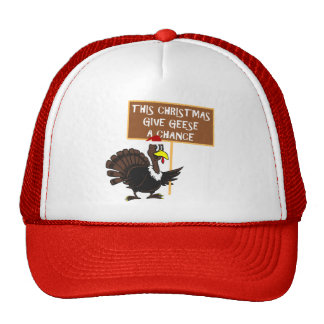 Spoof give peace a chance trucker hat