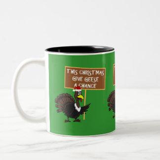 Spoof give peace a chance coffee mugs